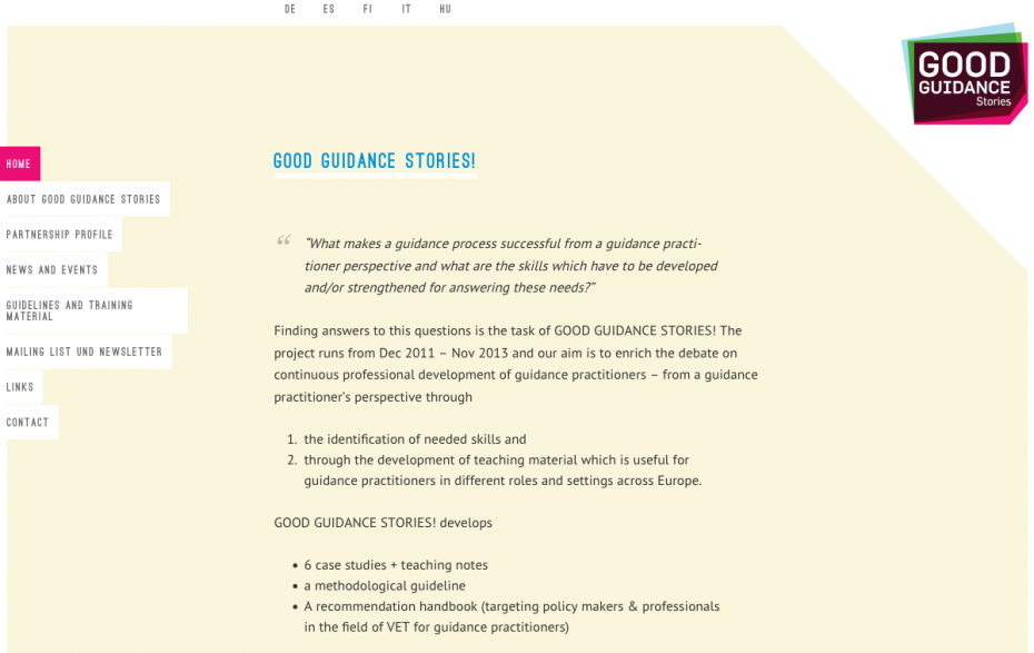 Good Guidance Stories - Home